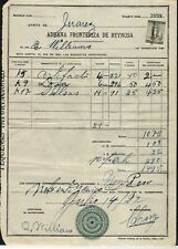 Mexico 1927 Bill with Revenue Stamp from Juarez, Mexico with Seal