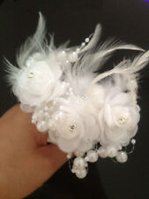 3 Pieces New Crystal Pearl White Flower Wedding Bridal Party Hair Pin Clips