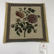 Williams Sonoma Home Rose Flower Jacquard Pillow Cover Cusion 18x18 New Sample
