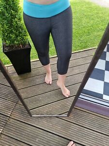 Size 8/10 Leggings Athletic Works Grey Cropped Gym Work Out