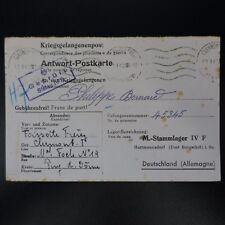 LETTRE PRISONNIER GUERRE CLERMONT FERRAND  -> STALAG IV F KRIEGSGEFANGENENPOST
