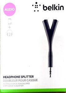 Belkin Headphone Splitter with Y-Shape Design and Double Auxiliary Jacks