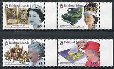 Falkland 2015 QE II Königin Elisabeth Kutsche Land Rover Landkarte ** MNH