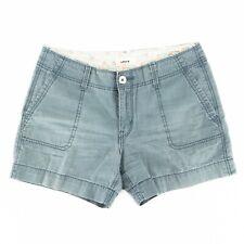 Levi's Women's Shorts Flap Pocket Zip Fly 100% Cotton Mid Rise Blue Size 4 30x4