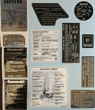 KAWASAKI Z1300A A1 A2 WARNING DECAL KIT
