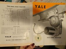 Yale Towne Rail King Tractor 1960 Brochure