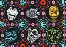 FAT QUARTER FABRIC  STAR WARS  SUGAR SKULLS  CAMELOTS FABRICS  DARTH VADER   FQ