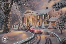 "Graceland Christmas - Elvis -- 8 1/4"" x 5 1/2"" -- Thomas Kinkade Dealer Postcard"