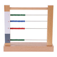 Wooden Math Counting Number Bead Abacus Kids Baby Preschool Learning Tools