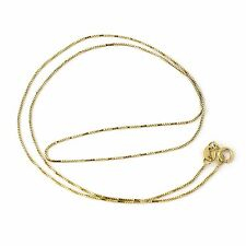 10k Yellow, White or Rose Gold Italian 0.50mm Box Chain Necklace