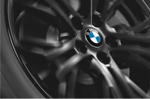 BMW Nabenabdeckung Feststehend 65 mm (36122455269) - Floating Center Caps- NEU
