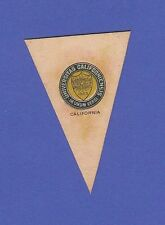 c1910 L51 tobacco leather pennant shaped University Of California 3
