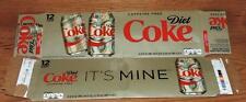 "2016 USA Coca-Cola CAFFEINE FREE DIET COKE ""IT'S MINE"" EMPTY 12-PACK CAN CARTON"