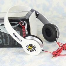 Anime One Piece Trafalgar Law Stereo Headband Headphone Mp3 Phone Pc Earphones