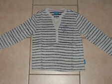 Boy's Emma Bunton Reverse Print Long Sleeve Top - Grey & Blue Stripe-Age 4-5 yrs