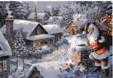 """# Adventskalender #  KORSCH Verlag 10385 """" Santa am Schornstein"""", mit GLIMMER"""