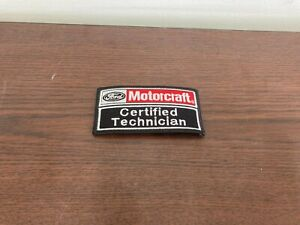 FORD / MOTORCRAFT CERTIFIED  TECHNICIAN SEW/IRON ON PATCH EMBROIDERED NOS