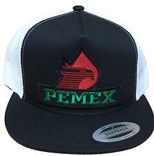 PEMEX MEXICO HAT MESH TRUCKER BLACK WHITE SNAP BACK