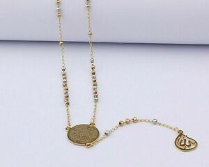 Muslim Arabic Printed Pendant Necklace Stainless Steel Long Chain Necklaces
