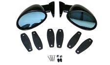 1 Set California Side Mirrors Street Hot Rod Custom Paintable Adjustable w/ Pads