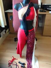 STUNNING USED DANCE COSTUME ,traveller rigout,,latin,disco,slow B4