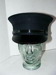 Midway Cap Company Bell Crown Uniform Dress Hat Sz L Fire Department FD Button