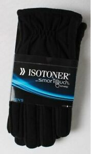 Isotoner Mens 700M1 Smart Touch Winter Gloves, Black - MSRP $55 NWT