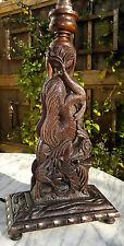 """Antiguo anglo indio tallada dragon ~ ~ ~ Lámpara de mesa de serpiente ojos empedrado ~ 18"""" De Alto"""