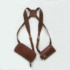 Leather Shoulder Holster for Phone and Wallet Anti-theft Leather Holster