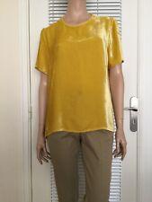 TOP (TUNIQUE) EN PANNE DE VELOURS JAUNE MOUTARDE PAROSH Taille S/M porté 1 fois