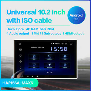 "Dasaita 10.2"" Octa Core Android 9 Car double Din GPS PX6 (4G RAM+64G) Media Sys"