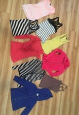 Lot Of 9 Womens Small Tanks, Jackets, Long Sleeve Tops Various Condition