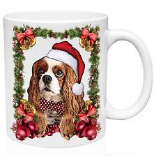 Cavalier Charles Santa Christmas Decoration 11oz Ceramic High Quality Coffee Mug