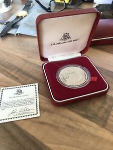 1981 Silver Proof medal Charles & Diana wedding Birmingham Mint