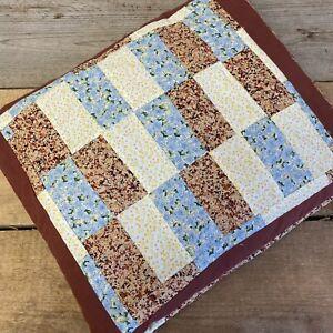 """Vintage Retro Patchwork Quilt Floral Cottagecore Country Farmhouse 52""""x41"""""""