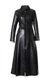 Women's Leather Black Long Victorian Gothic Steampunk Frogging Corset Coat