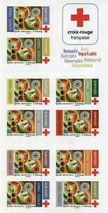 France Red Cross Stamps 2020 MNH Medical Health 10v S/A Booklet