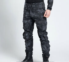 Military Army Combat Black Men Trousers Tactical Airsoft Work Camo Pant Cargo UK