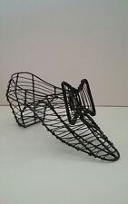Vintage Hand Made Wire Basket Shoe Shape Decororation for the Shoe Collector