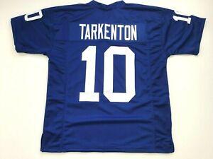 UNSIGNED CUSTOM Sewn Stitched Fran Tarkenton Blue Jersey  M, L, XL, 2XL