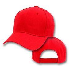 Big Size Red Adjustable Baseball Cap  2XL - 4XL  BIGHEADCAPS