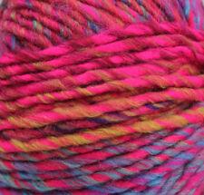 Katia Montezuma #104 Pink Purple Blue & Green Mix 100g Ball 53 Wool 47 Acrylic