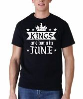 Kings Are Born In June Shirt Birthday Gift For Men T-Shirt Fathers Day Present