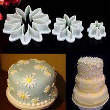 3Pcs Fondant Cake Cutter Plunger Cookie Mould Sugar craft Flower Decorating Mold
