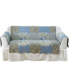 Sure Fit Heirloom Printed Patchwork Loveseat Cover Blue NB