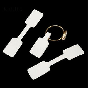 100Pcs White Sticker Labels Price Tags Jewellery Market Sell Ring Sticky DIY