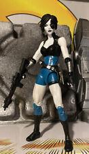 EEG! Custom Marvel Legends 6? Domino 90s Style Costume w Gun & Knife