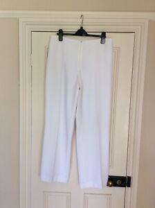 Joseph Ribkoff White Trousers Size 12