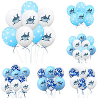 10pcs Shark Balloon Latex Confetti Balloons Birthday Party Baby Shower Decor G*H