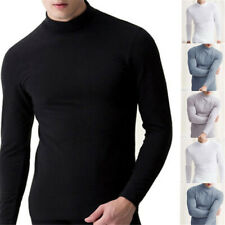 Mens Winter Warm Long Sleeve Turtleneck Jumper Undershirt High Neck Tee Tops US